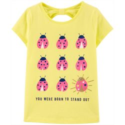 Carters Little Girls Ladybug Bow Back Tee