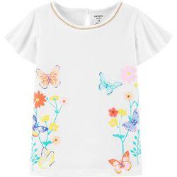 Little Girls Floral Butterfly Tee