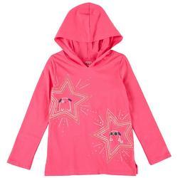 Little Girls Star Hooded Top