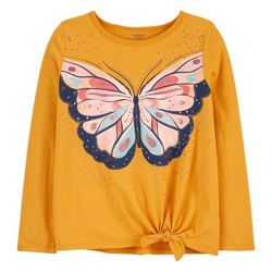 Carters Little Girls Butterfly Tie Front Tee