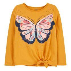 Carters Little Girls Butterfly Tie Front Tee