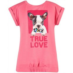 Speechless Big Girls Dog True Love Short Sleeve Top