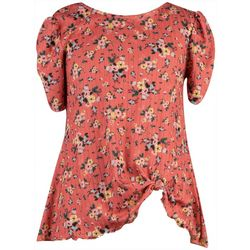 Big Girls Puff Sleeve Floral Top