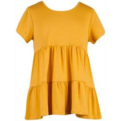 Big Girls Short Sleeve Tiered Top