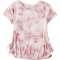 Speechless Big Girls Tie Dye Side Tie Top
