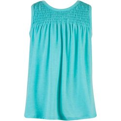 Speechless Big Girls Sleeveless Smock Neck Top