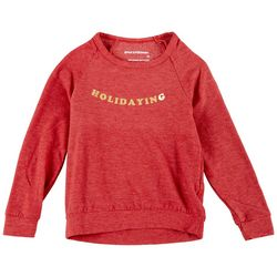 Lovers of Hyoumanity Little Girls Holidaying Long Sleeve Top