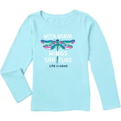 Life Is Good Big Girls With Brave Wings She Flies T-Shirt