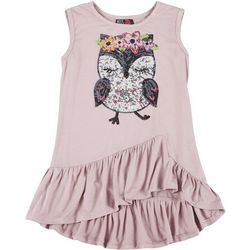 Miss Chievous Big Girls Sequin Owl Tank Top