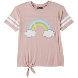 Big Girls Glitter Rainbow T-Shirt