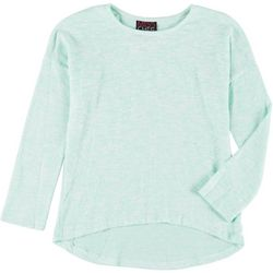 Miss Chievous Big Girls Long Sleeve Hi-Low Top