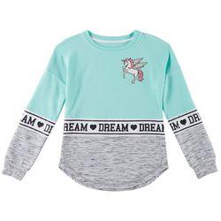 Miss Chievous Big Girls Unicorn Dream Crew Neck Sweater