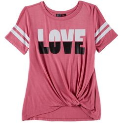 Miss Chievous Big Girls Love Twist Front T-Shirt
