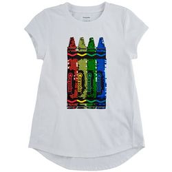 Little Girls Sequin Crayon Tee