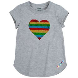 Little Girls Sequin Heart Tee