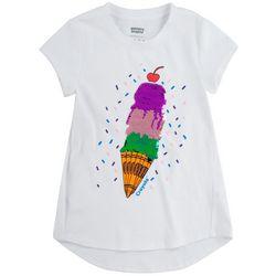 Crayola Little Girls Sequin Ice Cream Scoop Tee