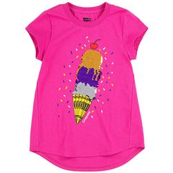 Crayola Little Girls Sequin Ice Cream Scoop Tee
