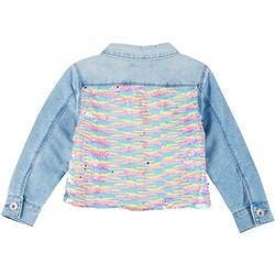 Big Girls Flip Sequin Denim Jacket