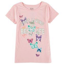 Stars & Sprinkles Big Girls Living My Best Life Rainbow Top