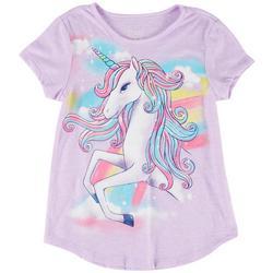 Big Girls Unicorn Rainbow Top