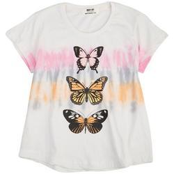 Big Girls Tie Dye Stripe Butterfly Top