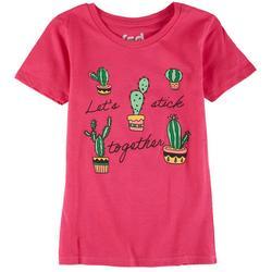 Big Girls Let's Stick Together Cactus Top