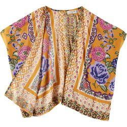 Angie Girl Big Girls Floral Mixed Print Kimono