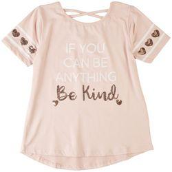 Btween Big Girls Be Kind Crossback Short Sleeve Top
