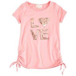 Btween Big Girls Sequin Love Short Sleeve Top