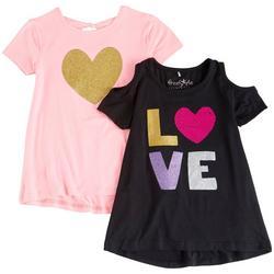Big Girls 2-pk. Love Heart Top Set