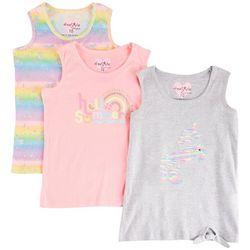 Freestyle Little Girls 3-pk. Unicorn Tie Dye Tank Top Set