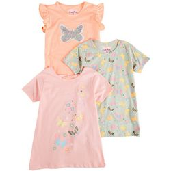 Freestyle Big Girls 3-pk. Butterfly Top Set