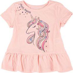 Little Girls Always Magical Unicorn Peplum Top