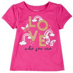 Kidtopia Little Girls Love Short Sleeve Tee