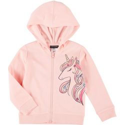 Little Girls Long Sleeve Unicorn Hoodie