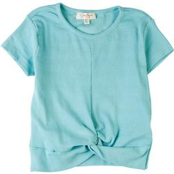 Little Girls Ribbed Twist Front Top