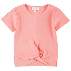 Jessica Simpson Big Girls Ribbed Twist Tee