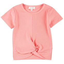 Big Girls Ribbed Twist Front Top