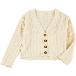 Jessica Simpson Big Girls Pointelle Sweater