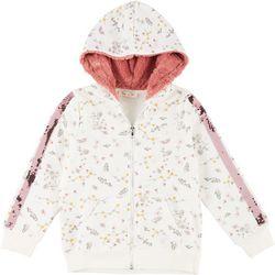 Jessica Simpson Big Girls Plush Hooded Floral Jacket