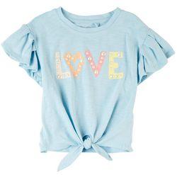 Jessica Simpson Big Girls Love Embellished Tie Front Top