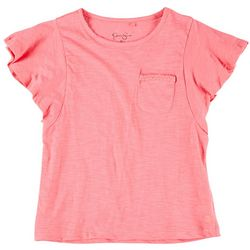 Jessica Simpson Big Girls Flutter Sleeve Pocket Tee