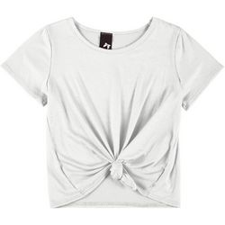 Kids Big Girls Solid Knot Front Tee