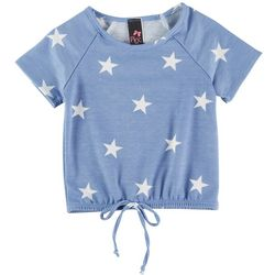 Pinc Big Girls Star Print Short Sleeve Top