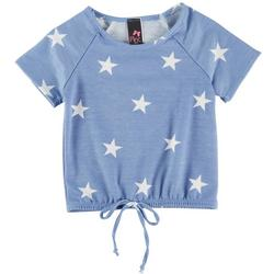 Big Girls Star Print Short Sleeve Top