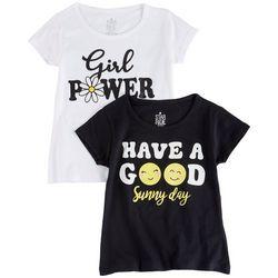 Star Ride Little Girls 2-pk. Girl Power T-Shirt Set