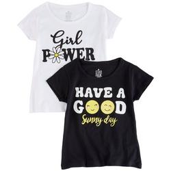 Little Girls 2-pk. Girl Power T-Shirt Set