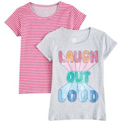 Star Ride Big Girls 2-pk. Laugh Out Loud T-Shirt Set