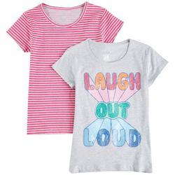 Big Girls 2-pk. Laugh Out Loud T-Shirt Set