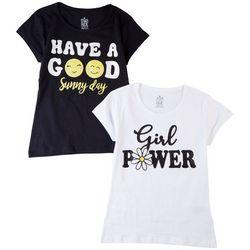 Star Ride Big Girls 2-pk. Girl Power T-Shirt Set